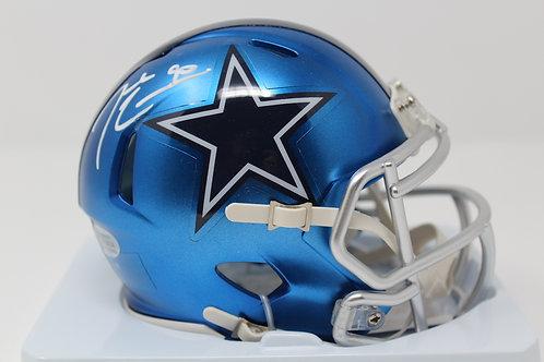 Demarcus Lawrence Autographed Dallas Cowboys Blaze Mini Helmet