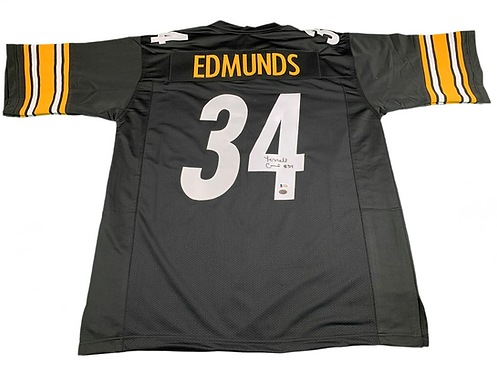 Terrell Edmunds Autographed Custom Pittsburgh Steelers Jersey