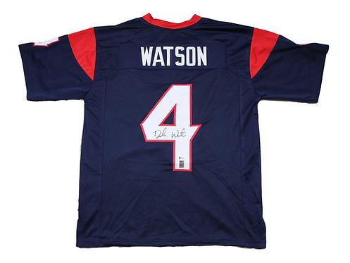 Deshaun Watson Autographed Custom Texans Jersey