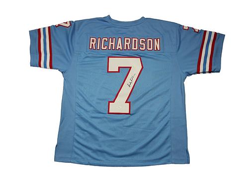 Bucky Richardson Autographed Custom Oilers Jersey