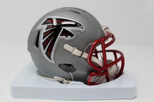 Calvin Ridley Autographed Atlanta Falcons Blaze Mini Helmet