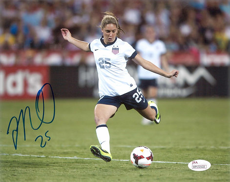 Morgan Brian Autographed US Women's Soccer 8x10 Photo