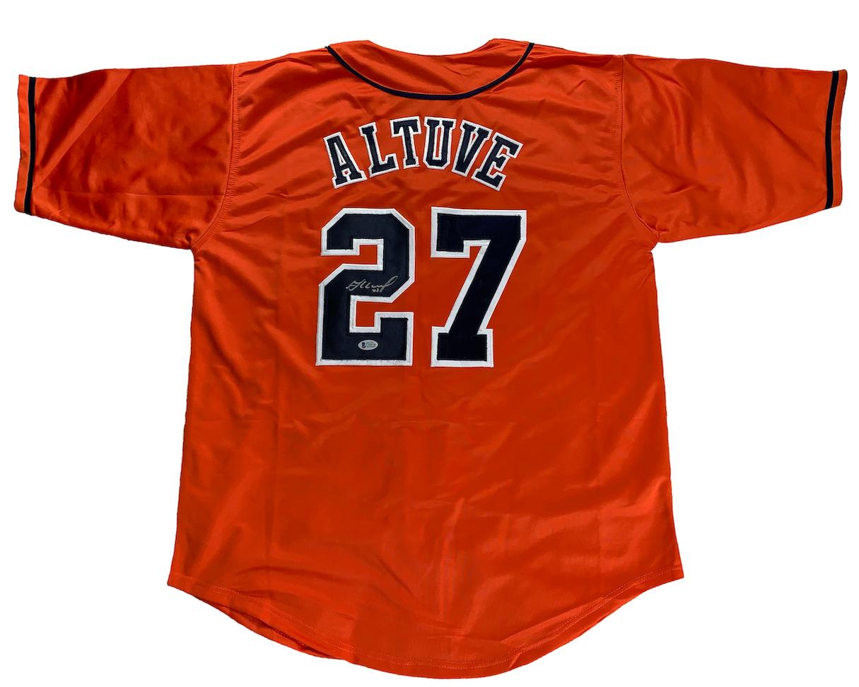 the latest 03fb6 4d28a Jose Altuve Autographed Custom Astros Orange Jersey