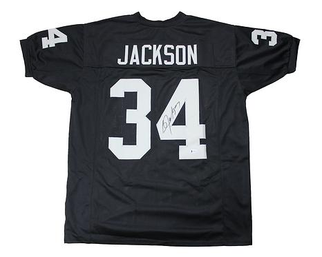 Bo Jackson Autographed Custom Oakland Raiders Jersey