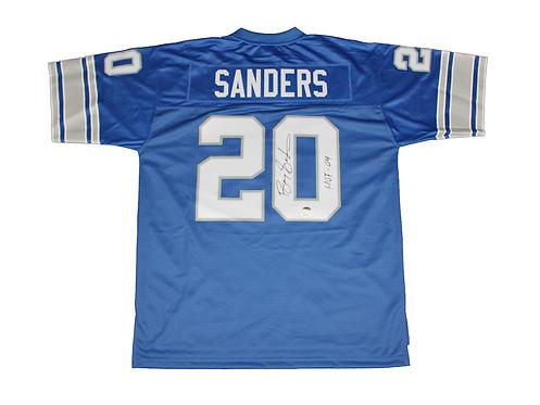 """Barry Sanders Autographed Detroit Lions Jersey wt """"HOF 04"""" inscript"""