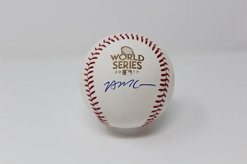 Brian McCann Autographed 2017 World Series Baseball