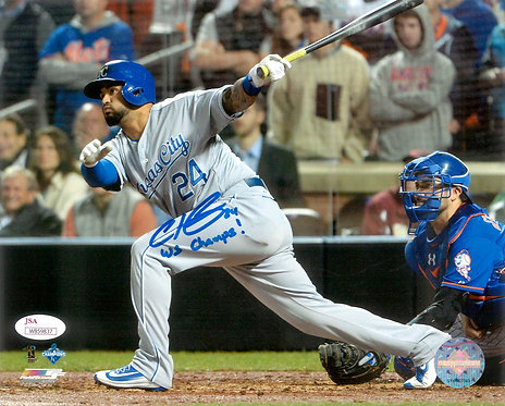 "Christian Colon Autographed Kansas City Royals 8x10 Photo Inscribed ""WS Champs"""