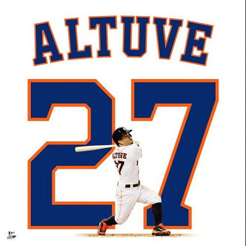Jose Altuve White Jersey Uniframe