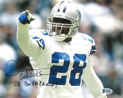 "Darren Woodson Autographed Dallas Cowboys 8x10 Photo Inscribed ""3x SB Champs"""