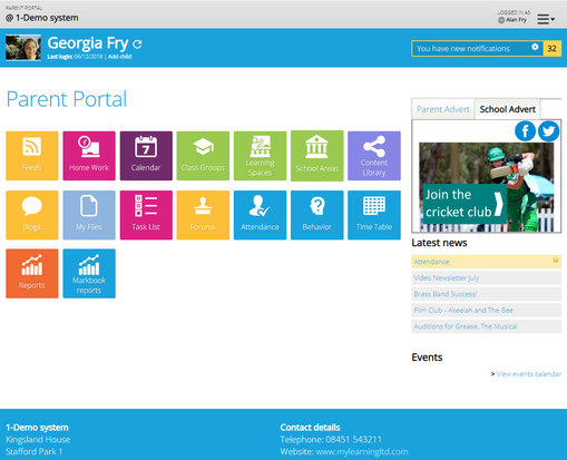 Example Parent Portal theme