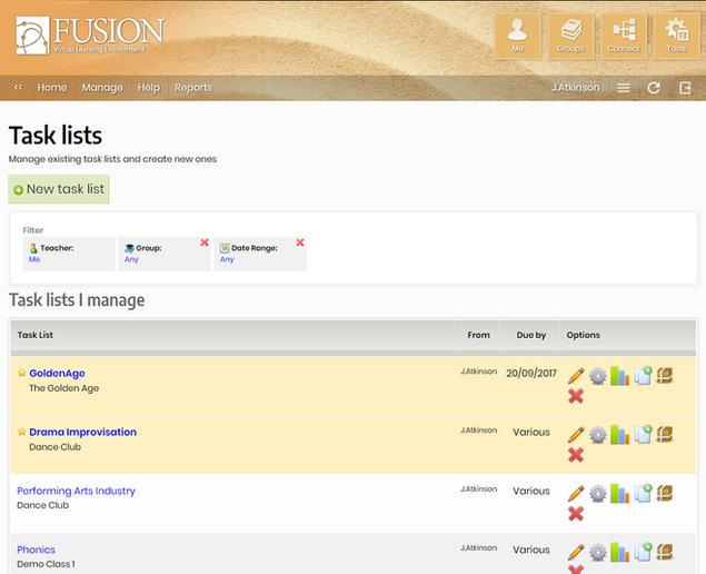 Managing Task Lists