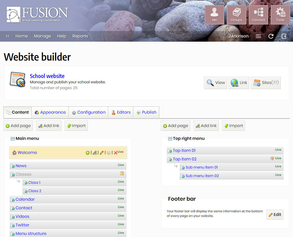 Building a school website