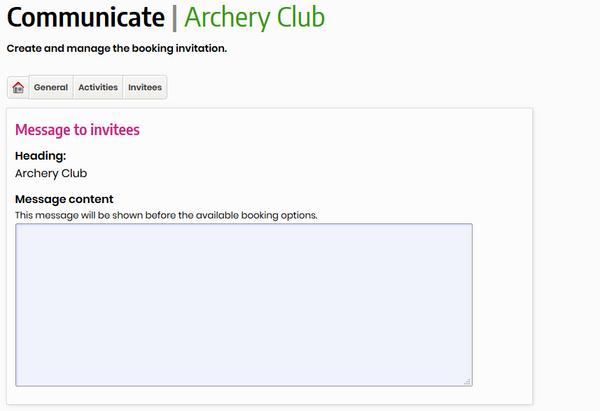 Club Communciations