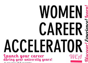 Women Career Accelerator: JOIN NOW!