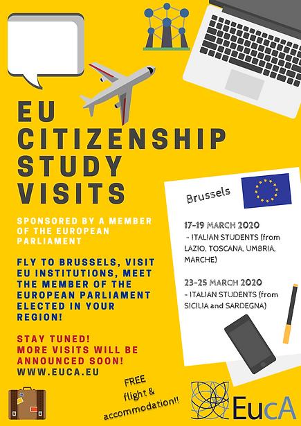 Poster European citizenship study visit-