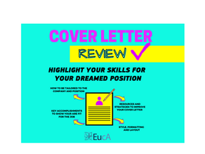 NEW! COVER LETTER REVIEW: BOOK IT ASAP!
