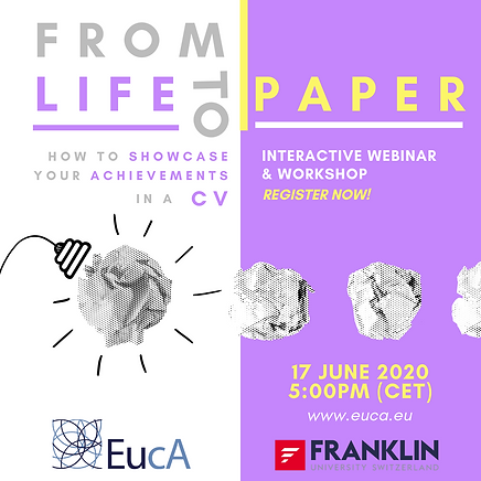 From Life To Paper - Webinar Poster (Pos