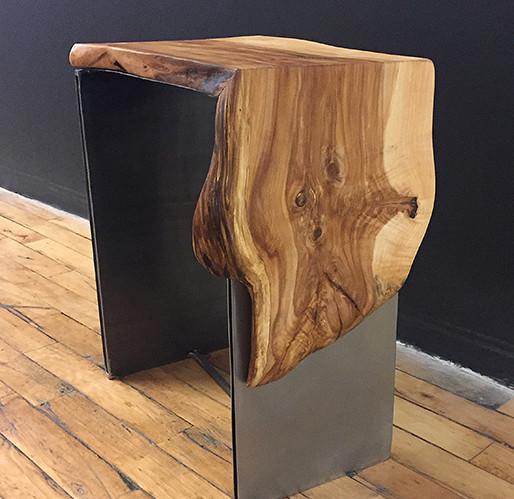 Applewood Waterfall Side Table