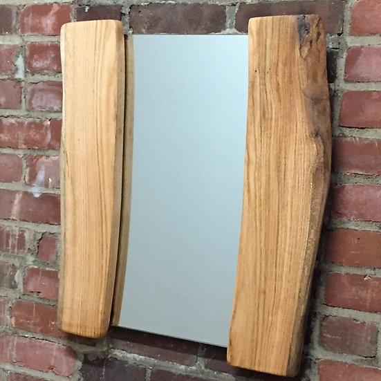 """Oak Reflection"" - Live Edge White Oak Mirror (Small)"