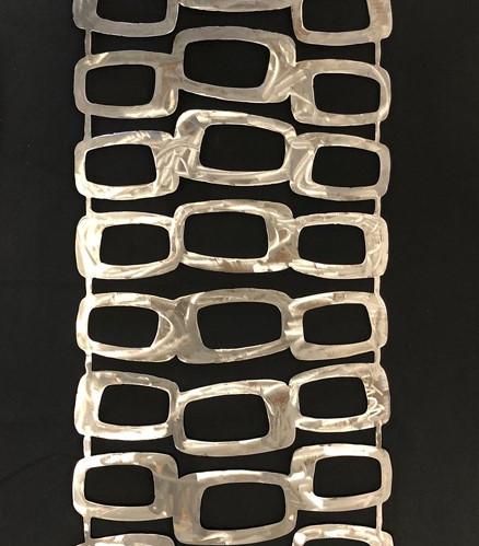 Circle Brushed Steel Scren
