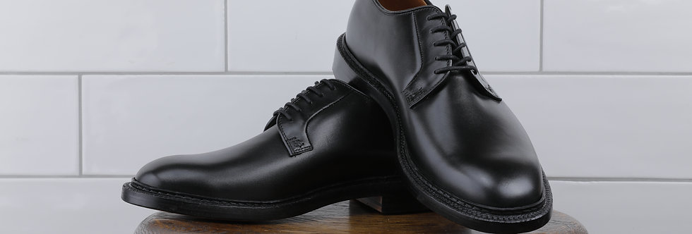 Plain Toe Black French Calf - Black Edge Stain