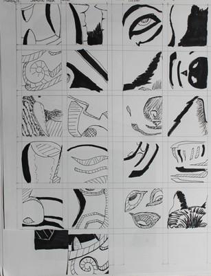 Samurai Mask Thumbnail Sketches