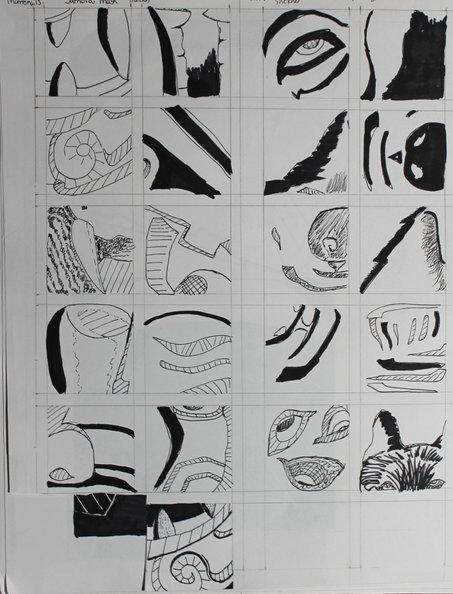 Samurai Mask thumbnail sketches