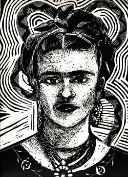 Frida Kahlo Black and White