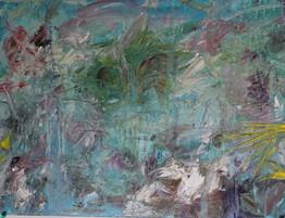 Abstract Island on Canvas Board
