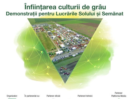 Înființarea culturii de grâu. Demonstrații pentru lucrările solului și semănat Expo | AgriPlanta-Rom
