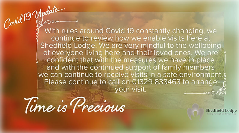 Shedfield Lodge Covid 19 Update 20 Octob