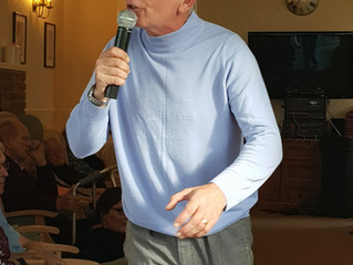Norman Wisdom look-a-like performs at the Lodge