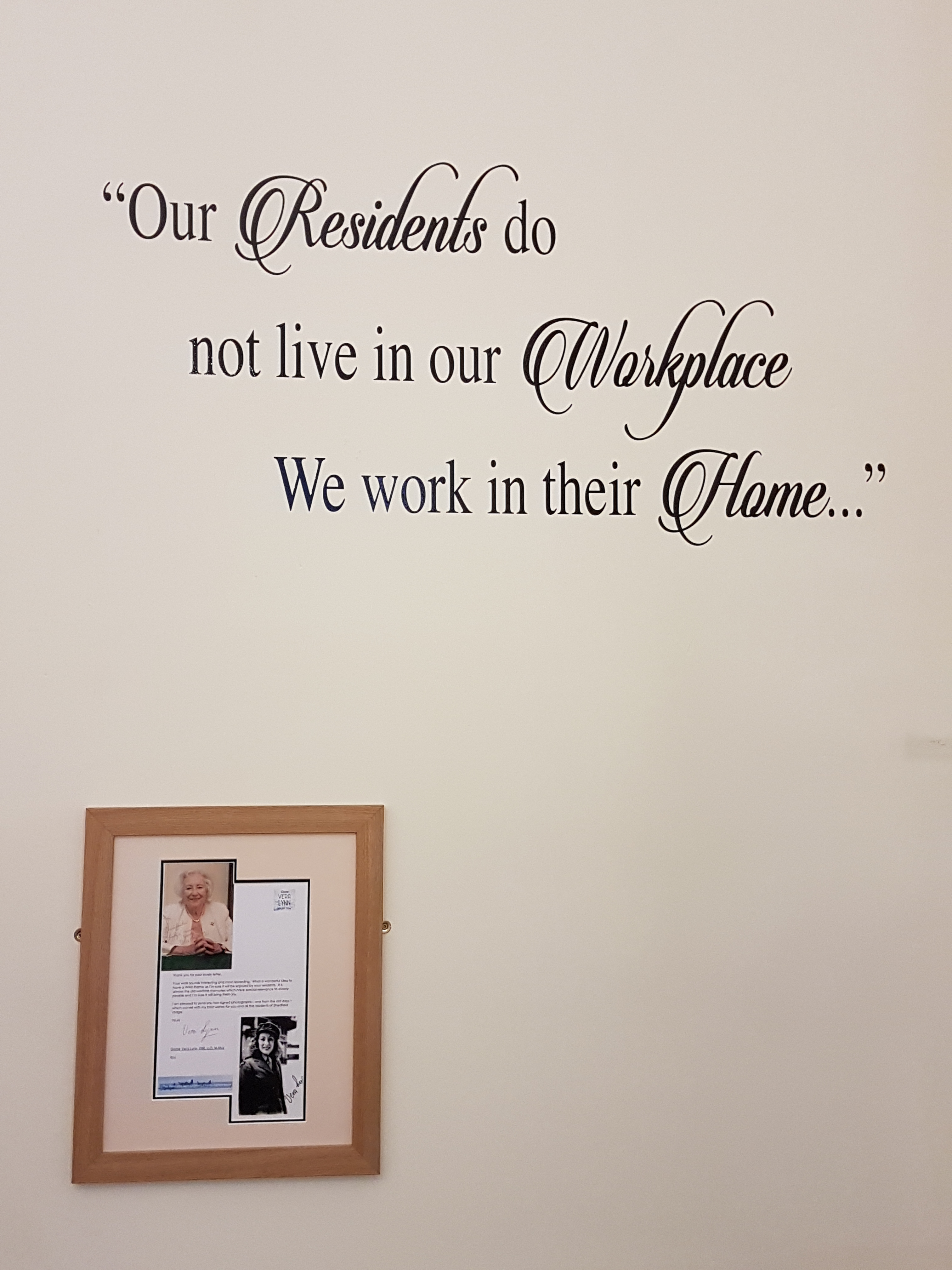 Shedfield Lodge Care Home Dementia Specialist Wall Picture
