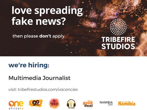 Multimedia Journalist: Closing 27th September 2021