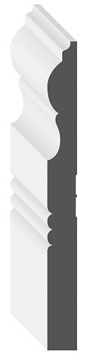 "6 1/2"" MDF Baseboard [MDF Victorian Baseboard]"