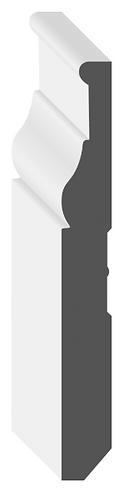 """5 1/4"""" MDF Baseboard [MDF Tudor Baseboard]"""