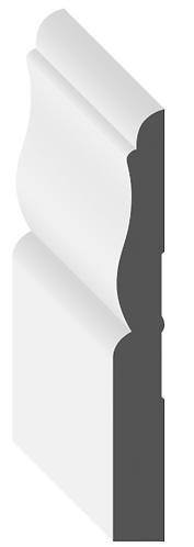 "3 1/4"" MDF Baseboard [Primed MDF Baseboard]"