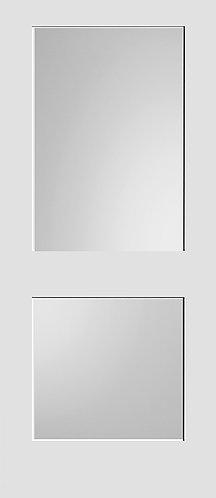 Bifold #8402 MD Primed w/ Diffused White Laminate