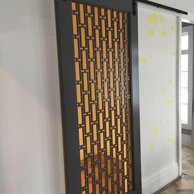 Custom Wine-cellar door install on barn