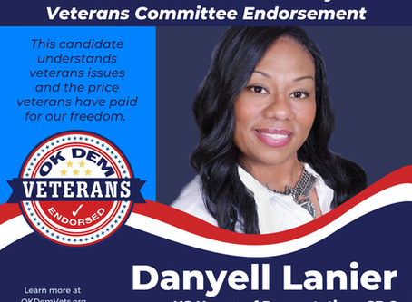 Oklahoma Democratic Party Veterans Committee - Endorsement