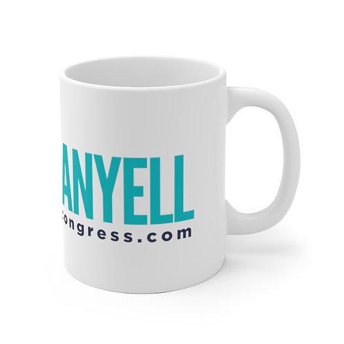 Yell for Danyell! White Ceramic Mug