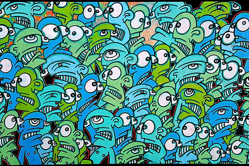 GALO - MODERN AGE - 80x50cm - Mixed Media on Canvas