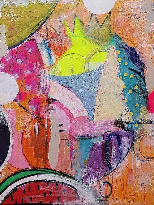 Hey Bart! - Mixed Media on Canvas - 80x100cm