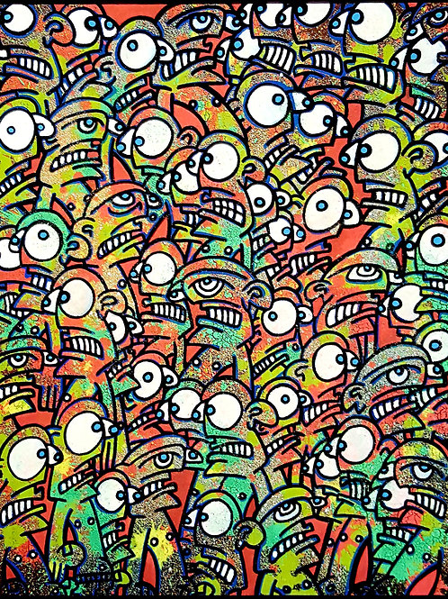 GALO - HUMAN CHAOS - 40x50cm - Mixed Media on Canvas
