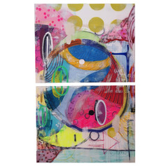 Mixed Media - Diptych 160x100cm For Sale - POA