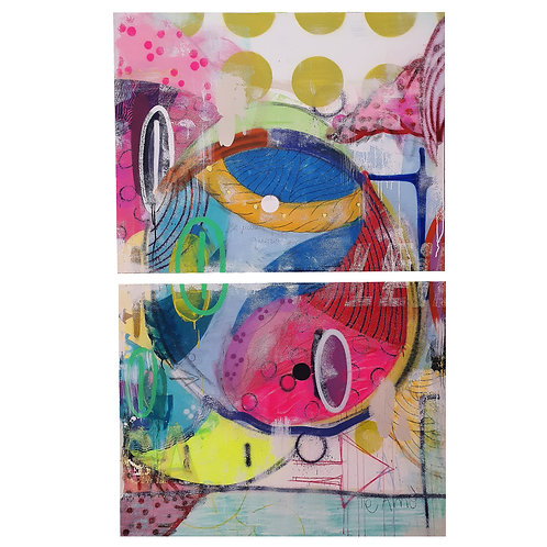 Yin Yang - Mixed Media on Canvas - Diptych - 160x100cm