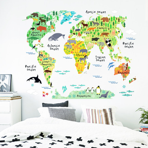 Colorful Map Wall Decal