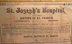St. Joseph's hospital of the sisters of francis insurance card