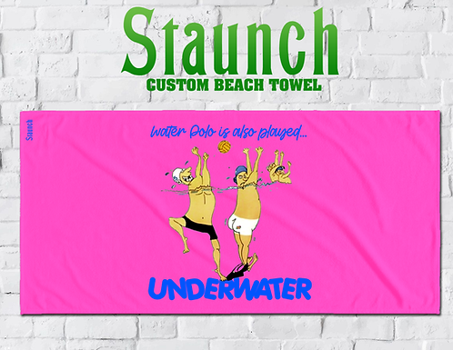 Underwater Printed Cool Beach Towels | 2021 | Staunch Water Polo