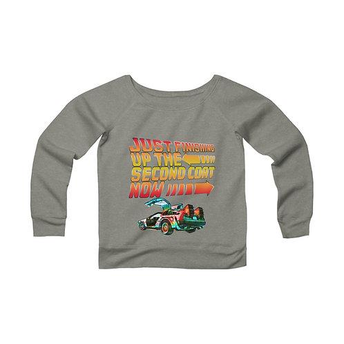 Second Coat Women's Wide Neck Sweatshirt
